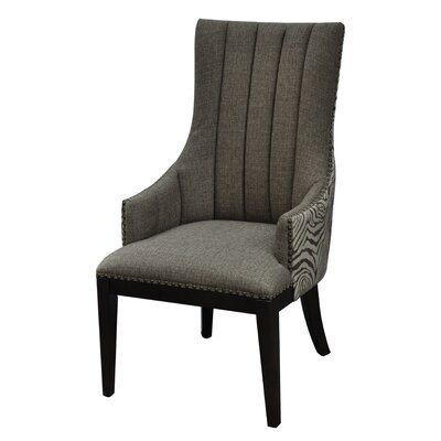 Safari Two Toned Channel Back Upholstered Dining Chair