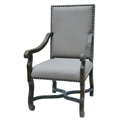 St. James Nailhead and Linen Armchair