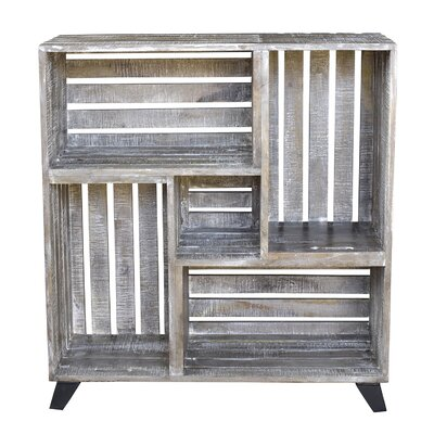 Clayton Mango Wood Reclaimed Crates Cube Unit Bookcase Image 229