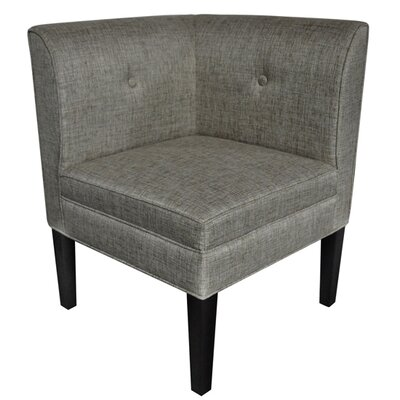 Baton Rouge Button Tufted Corner Linen Side Chair