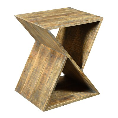 Alessandro Mango Wood Angled End Table