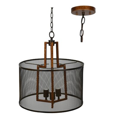 Glenam 3-Light Drum Pendant
