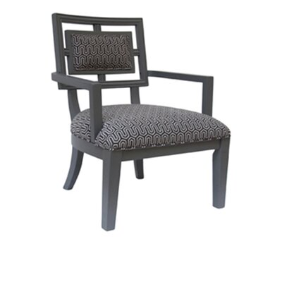Mirren Geometric Pattern Arm Chair