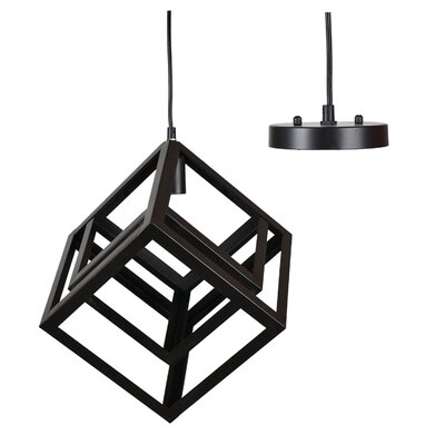 Henry Street Double Box 1-Light Geometric Pendant