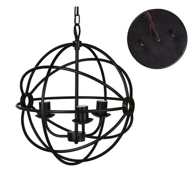 Nasir 3-Light Globe Pendant