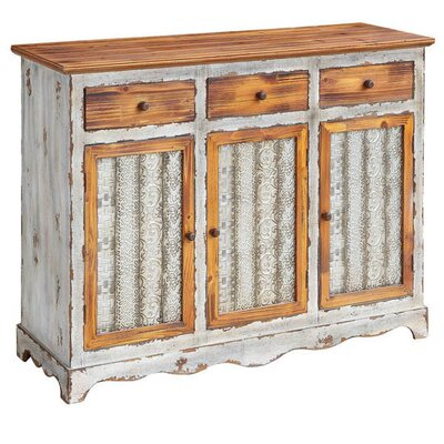 Rubin Metal and Wood 3 Drawer 3 Door Sideboard