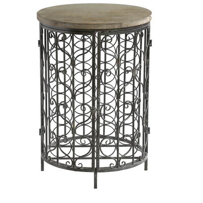 Ayers Village Iron and Metal Rustic Floor Wine Cabinet