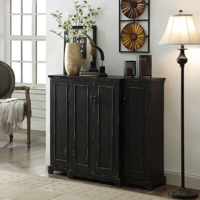 Drew 4 Door Credenza Color: Black
