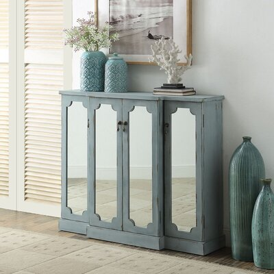 Hattie 4 Door Credenza Color: Blue