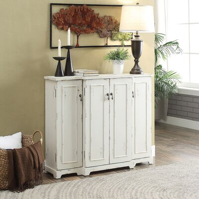 Drew 4 Door Credenza Color: White