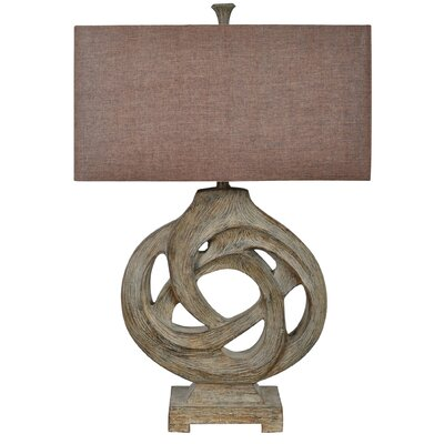 Furniture-Crestview Coiled Branch 32 H Table Lamp with Rectangular Shade