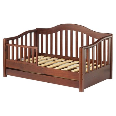 Grande Convertible Toddler Bed with Storage Color: Cherry Pine