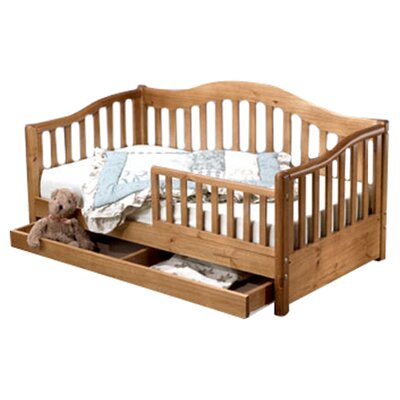 Grande Convertible Toddler Bed with Storage Finish: Oak On Pine