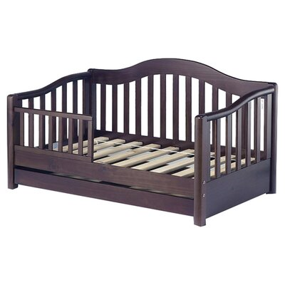 Grande Convertible Toddler Bed with Storage Finish: Espresso