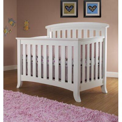 Alex 4-in-1 Convertible Crib Color: White 525-W