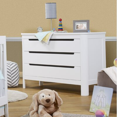Chandler 3 Drawer Dresser Color: White