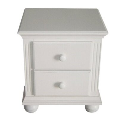 Vista 2 Drawer Nightstand Finish: French White