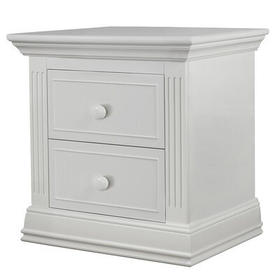 Providence 2 Drawer Nightstand Color: White