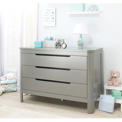 Chandler 3 Drawer Dresser Finish: Gray