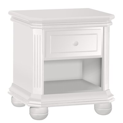 Vista 1 Drawer Nightstand Color: Vintage Frost