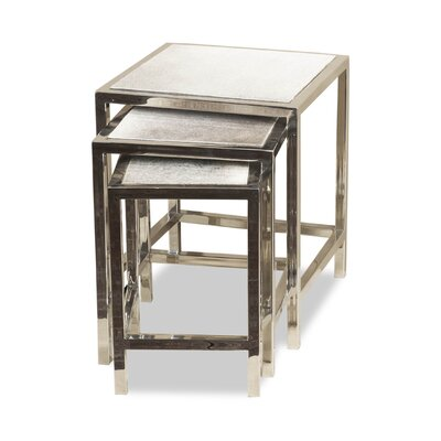 Dakota 3 Piece Hide Nesting Tables