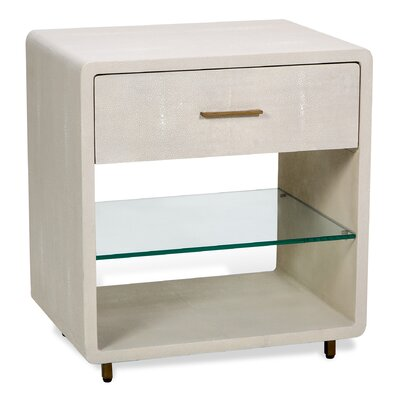 Calypso 1 Drawer Nightstand Color: Ivory