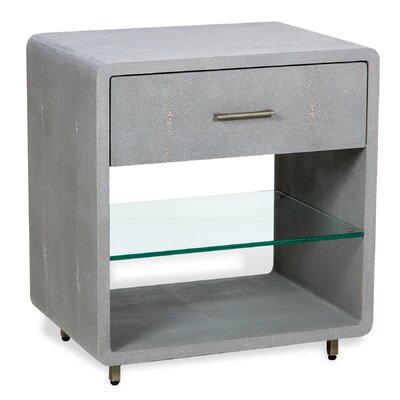 Calypso 1 Drawer Nightstand Finish: Gray