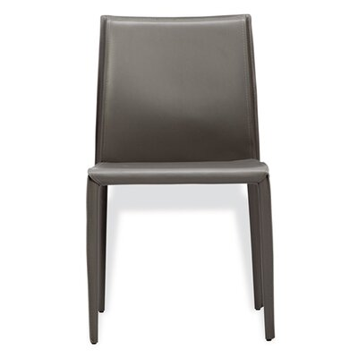 Jada Genuine Leather Upholstered Dining Chair (Set of 2) Finish: Gray