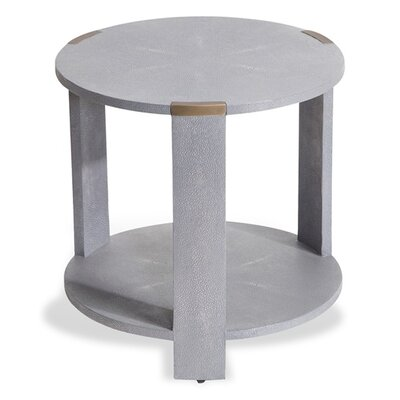 Evelyn End Table Color: Gray