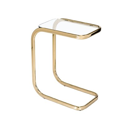 Saber End Table Finish: Brass