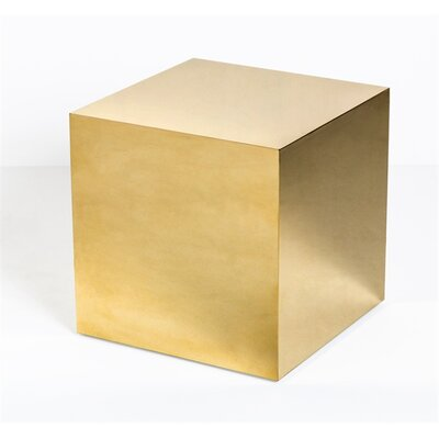 Aubrey Cube End Table Color: Brass