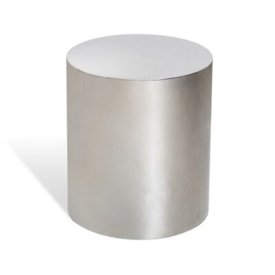 Aubrey Cylinder End Table Color: Silver