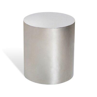 Aubrey Cylinder End Table Color: Silver