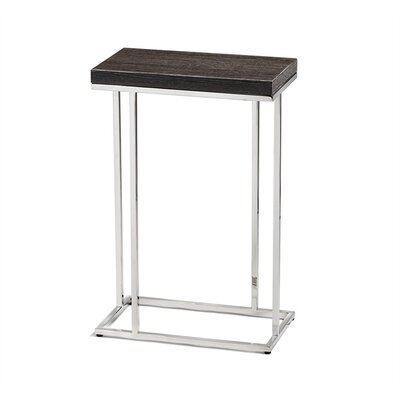 Elijah Rectangular Drink End Table Table Top Color: Smoked Oak