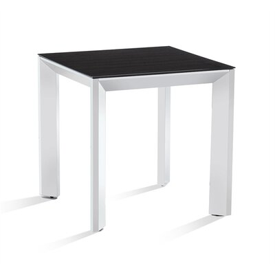Milo End Table Table Base Color: Nickel, Table Top Color: Smoked Oak