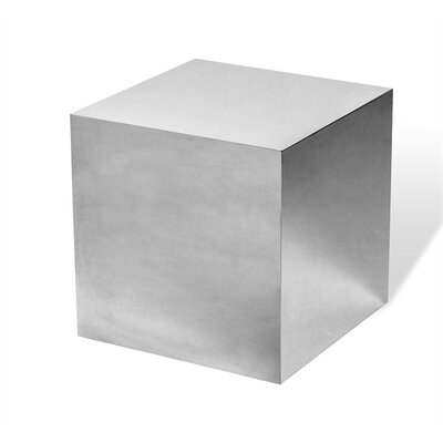Aubrey Cube End Table Color: Silver