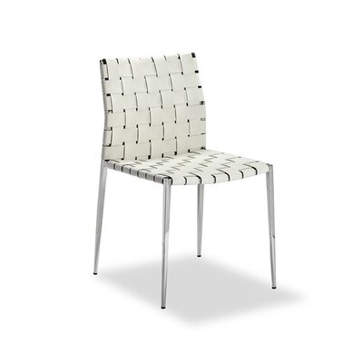 Logan Upholstered Dining Chair (Set of 2) Upholstery Color: White