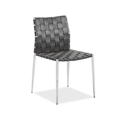 Logan Upholstered Dining Chair (Set of 2) Upholstery Color: Gray