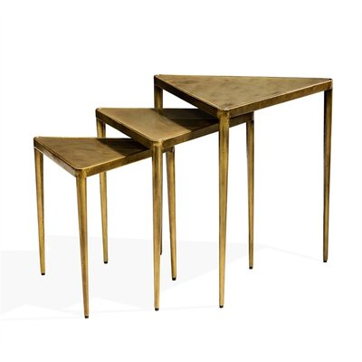 Jasmine Triangular 3 Piece Nesting Tables