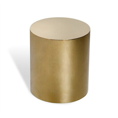 Aubrey Cylinder End Table Color: Brass