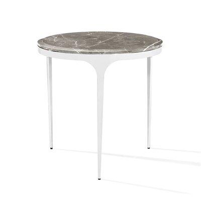 Camilla End Table Table Base Color: Nickel, Table Top Color: Italian Gray