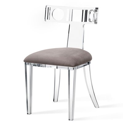 Ardsley Acrylic Klismos Upholstered Dining Chair