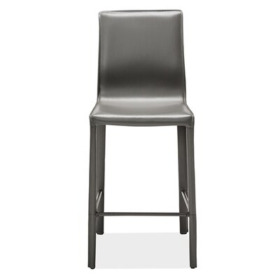 Jada Counter Bar Stool Upholstery: Gray