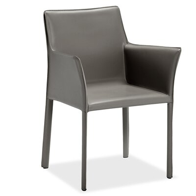 Jada Upholstered Dining Chair (Set of 2) Upholstery Color: Gray