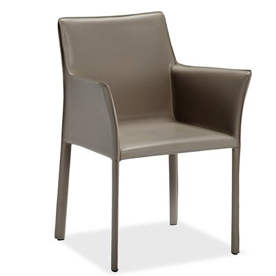 Jada Upholstered Dining Chair (Set of 2) Upholstery Color: Taupe