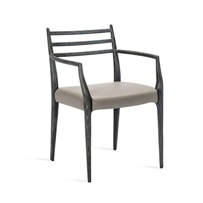 Beckham Armchair Upholstery: Gray, Finish: Charcoal
