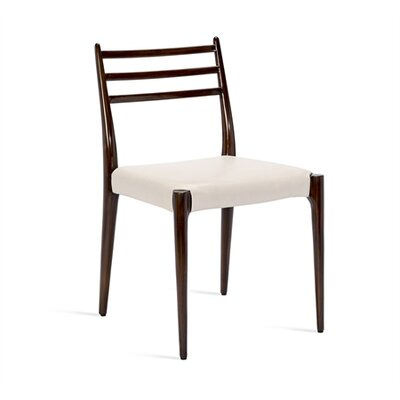 Beckham Side Chair Upholstery: Cream, Finish: Walnut