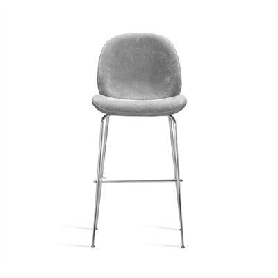 Luna Bar Stool Upholstery: Ocean Gray