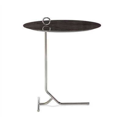 Claude Martini End Table Table Top Color: Smoked Gray Oak