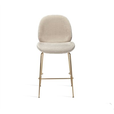 Luna Bar Stool Upholstery: Beige Latte